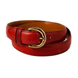 Vintage Coach Red Leather Belt 32 in.